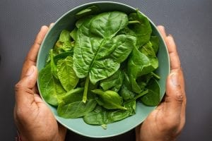 nutrition facts spinach