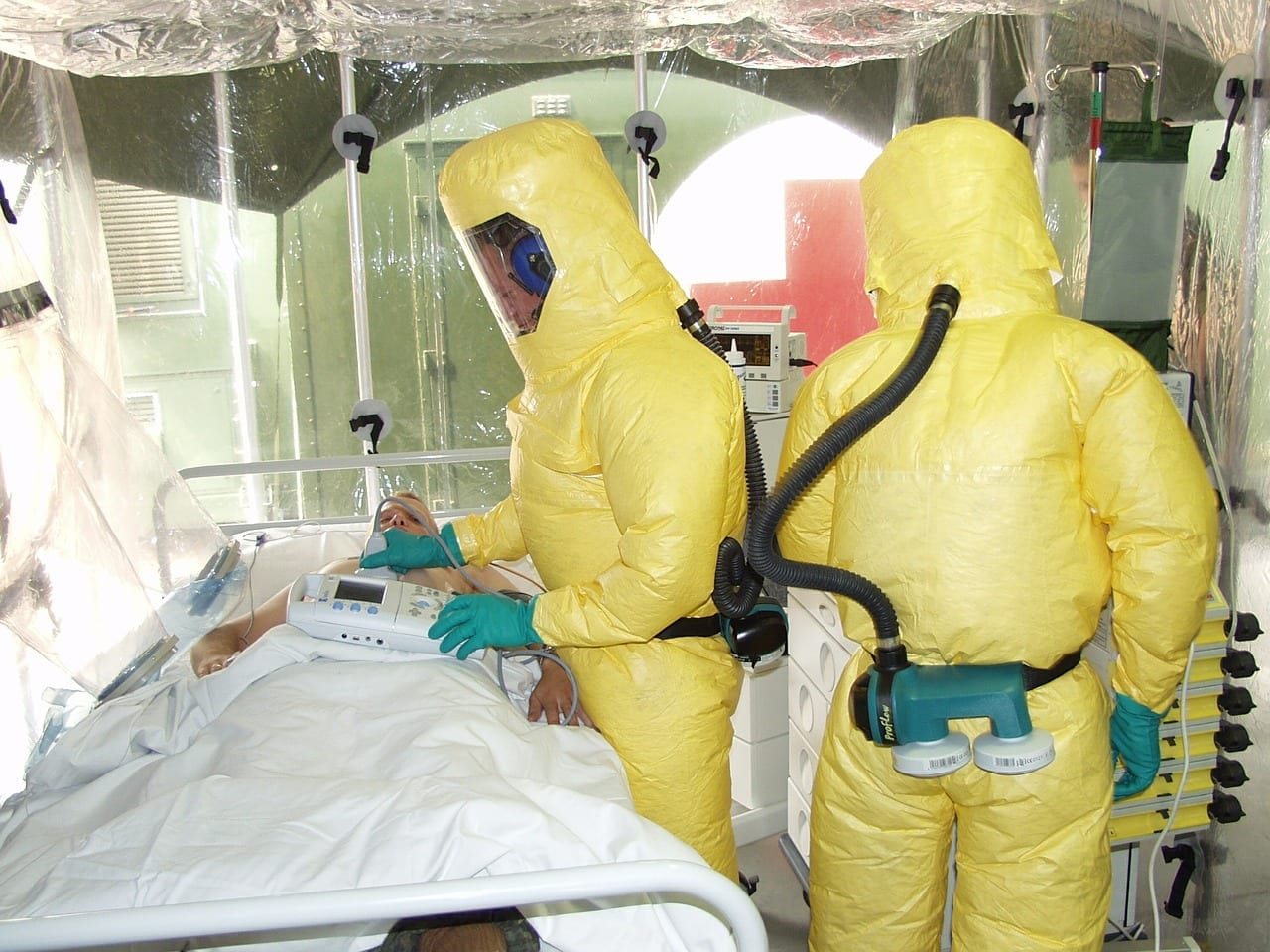 doctors wearing protective suit